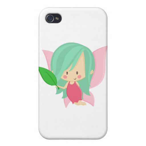 Garden Fairy- Seafoam and Pink Case For iPhone 4