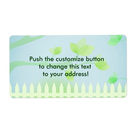 Garden fence - address labels