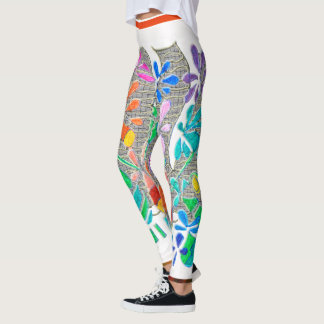 Garden Fence White Leggings