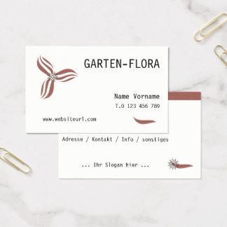 garden flora business card
