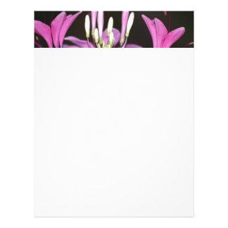 garden flower letterhead