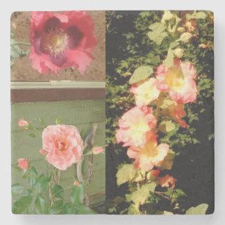 Garden Flower Marble Coaster