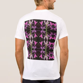 garden flower mirror image with back pix T-Shirt