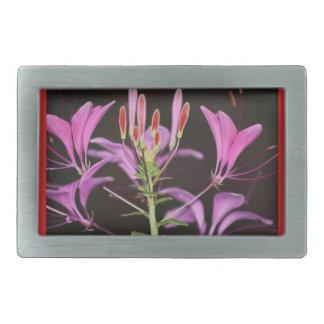 garden flower stylized rectangular belt buckles