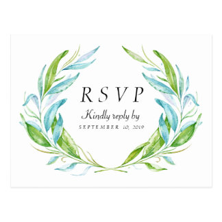 Garden Flower Watercolor Response RSVP Postcard