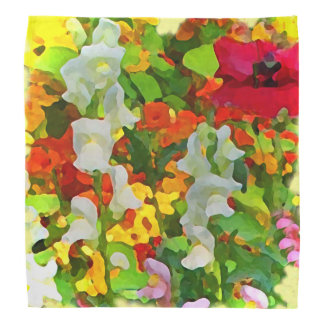 Garden Flowers Abstract Kerchief