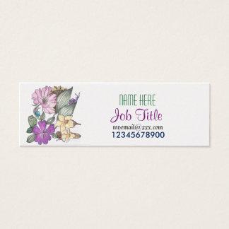 Garden flowers and snails business card