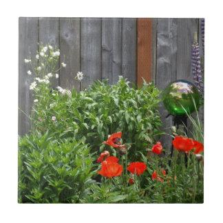 Garden Flowers at Fence Tile