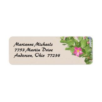 Garden Flowers Avery Label Return Address Label