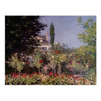 Garden Flowers by Claude Monet Postcard