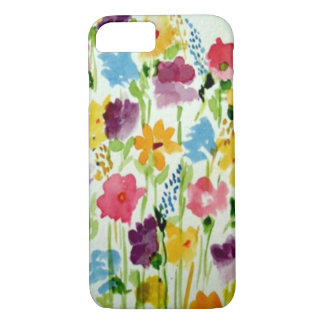 Garden Flowers Watercolor iPhone 7 Case