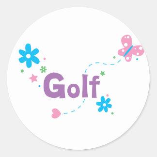 Garden Flutter Golf Classic Round Sticker