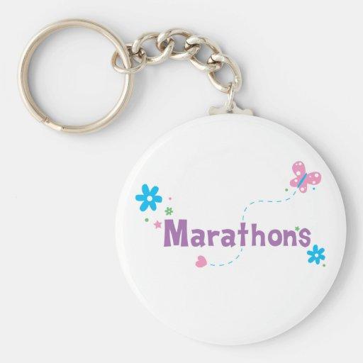 Garden Flutter Marathons Key Chain