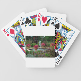 Garden Fountain Bicycle Playing Cards