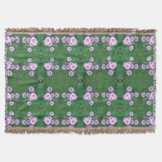Garden Fractal Dapple 1 with large photo Throw Blanket