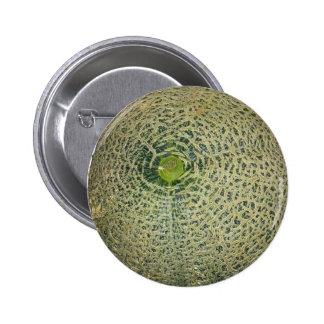 Garden Fresh Cantaloupe 2 Inch Round Button