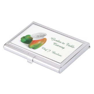 Garden Fresh Catering Service Business Card Holder