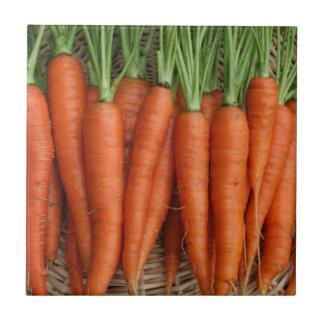 Garden Fresh Heirloom Orange Carrots Tile
