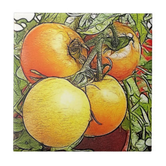 Garden Fresh Heirloom Tomatoes Tile