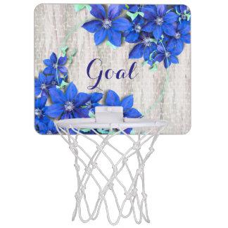 Garden Fresh Purple Clematis Flowers Mini Basketball Hoops