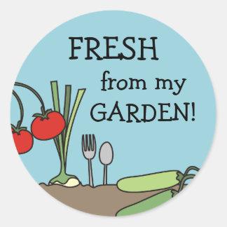 garden fresh vegetables cooking kitchen gift ta... classic round sticker