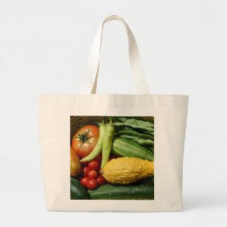 Garden Fresh Vegetables Large Tote Bag
