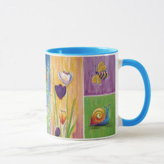 Garden-Friendly Floral panel mug