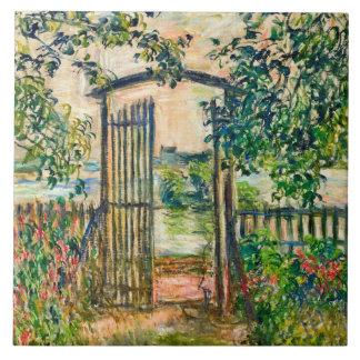Garden Gate at Vetheuil Claude Monet Art Ceramic Tile