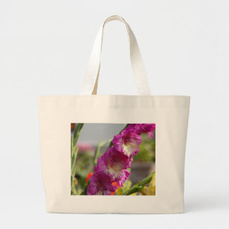 Garden gladiolus (Gladiolus x hortulanus) Large Tote Bag