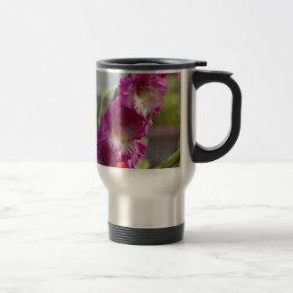 Garden gladiolus (Gladiolus x hortulanus) Travel Mug