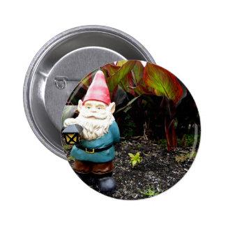 Garden Gnome 2 Inch Round Button