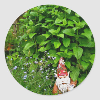 Garden Gnome Classic Round Sticker