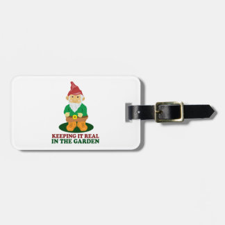 Garden Gnome Luggage Tag