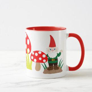 Garden Gnome Mushroom Cup Customize Coffee Mug