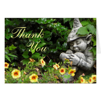 Garden Gnome Thank You Card