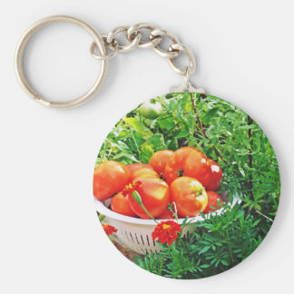 Garden Goodies Basic Round Button Keychain