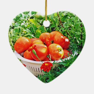 Garden Goodies Ceramic Heart Ornament