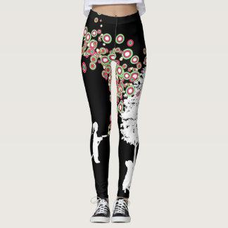 garden graffiti banksy style black leggings