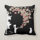 garden graffiti urban throw pillow