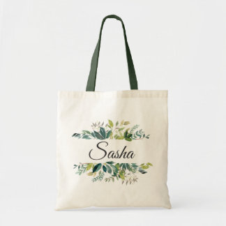 Garden Greenery Bouquet Personalized Tote Bag