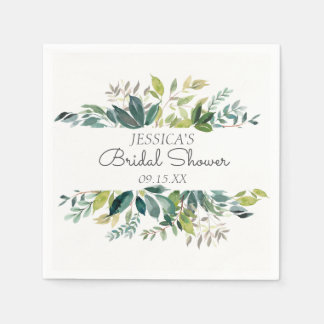 Garden Greenery Personalized Paper Napkin