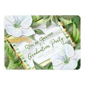 Garden Greens Graduation Party Celebration Invite
