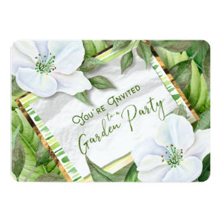 Garden Greens You're Invited Party Note Invite
