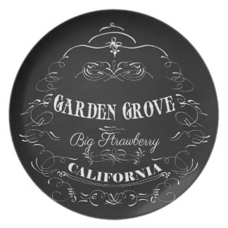Garden Grove, California - Big Strawberry Plate