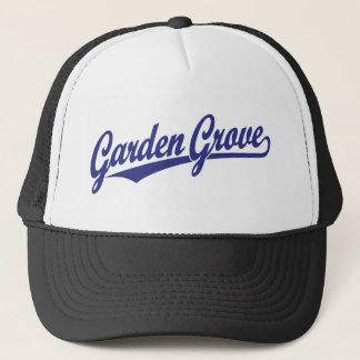 Garden Grove script logo in blue Trucker Hat