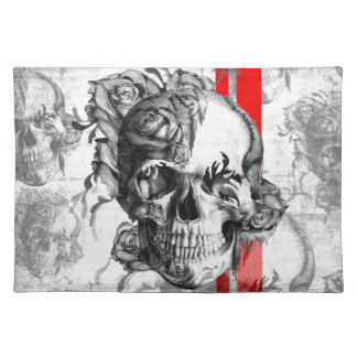 Garden Grove surfabilly skull Placemat
