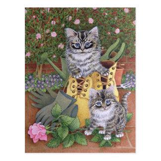 Garden Helpers Postcard