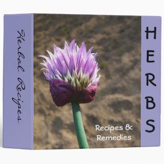 Garden Herb Recipe Book Vinyl Binders