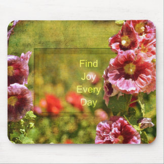 Garden Hollyhock Floral Joy Mouse Pad