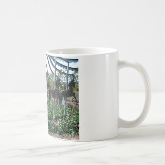 garden horse coffee mug